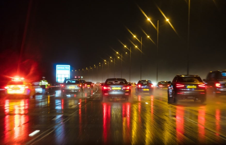 advanced fleet driver training diving at night motorway driving in difficult conditions